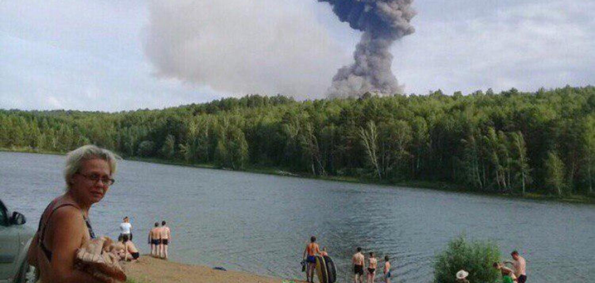 В России прогремели взрывы на военных складах: момент попал на видео