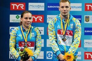 Украина взяла два 'золота' на ЧЕ по прыжкам в воду в Киеве