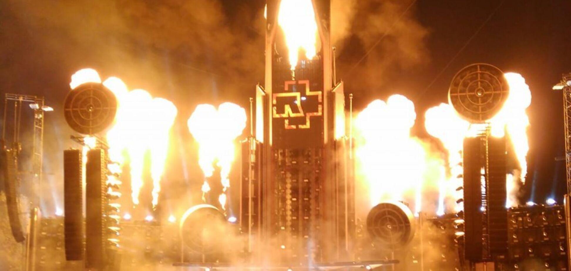 На концерті Rammstein у Ризі сталася пожежа: з'явилося відео