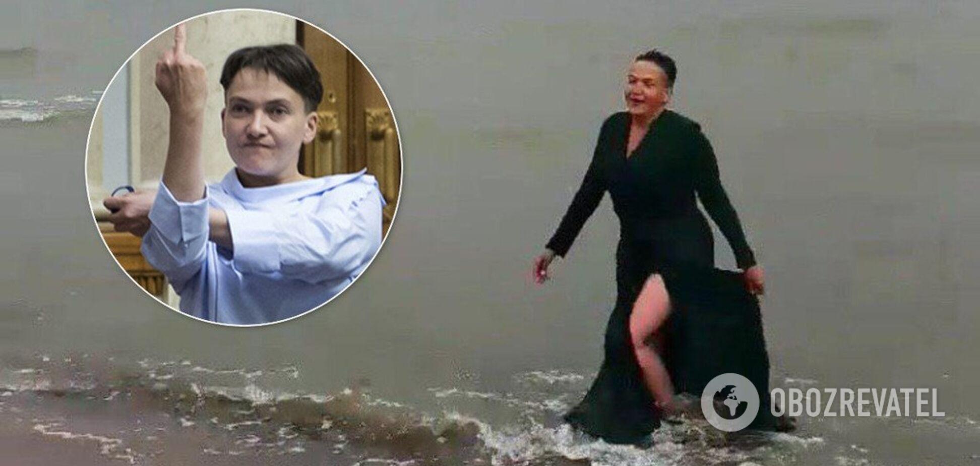 'Надя, это вы? Не верю!' Савченко устроила необычную фотосессию на море