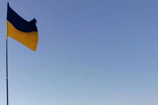 Украинский флаг в Судаке