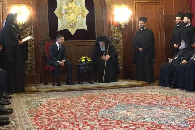 Владимир Зеленский на встрече с Варфоломеем