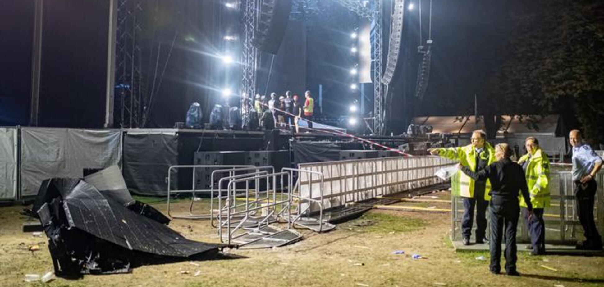 У Німеччині на концерті на глядачів обвалилася сцена: з'явилися фото і відео