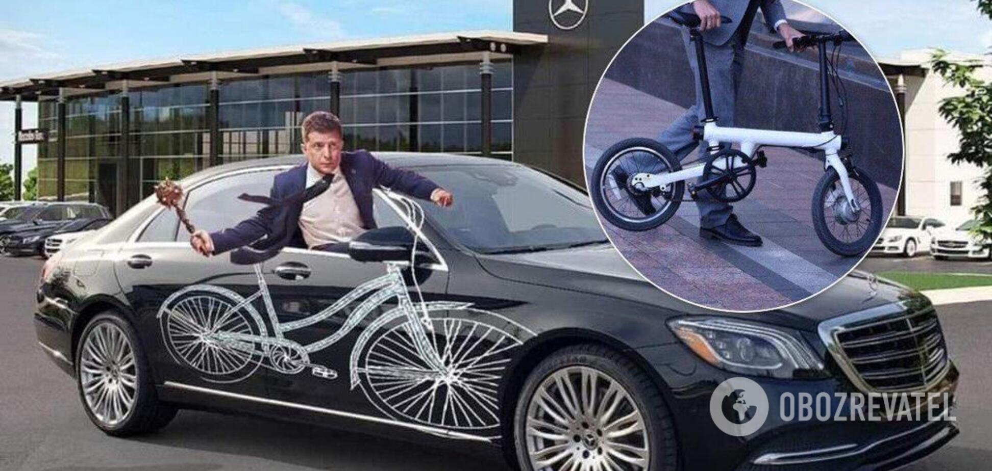 Нардеп из 'Слуги народа' приехал в Раду на 'умном велосипеде': фотофакт