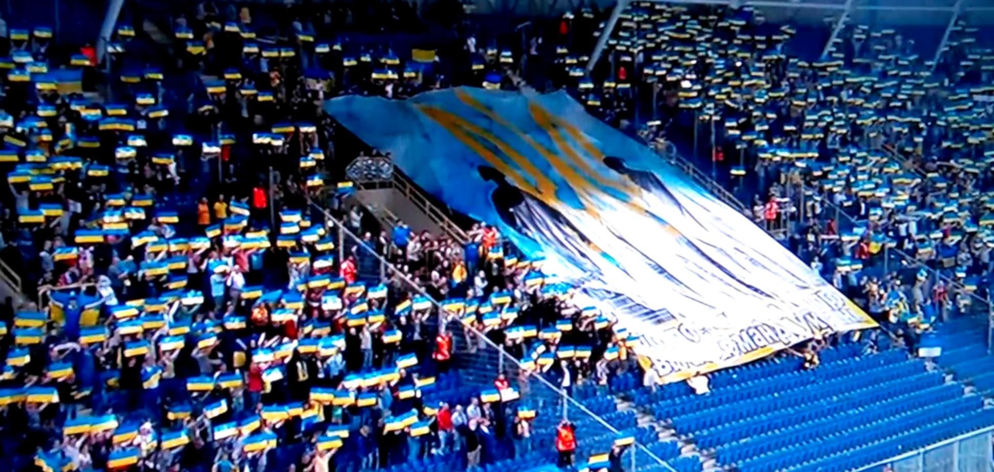 Стадіон у Дніпрі фантастично виконав гімн України