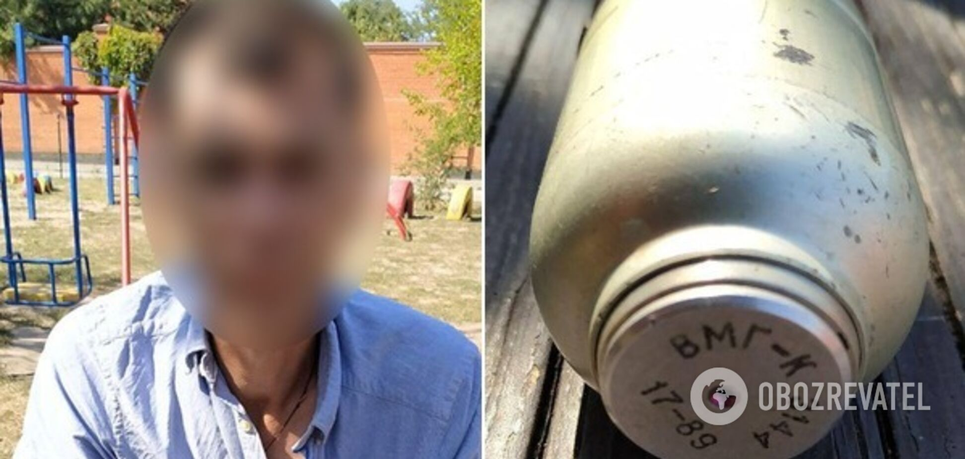 У Дніпрі засікли чоловіка з гранатою на дитячому майданчику