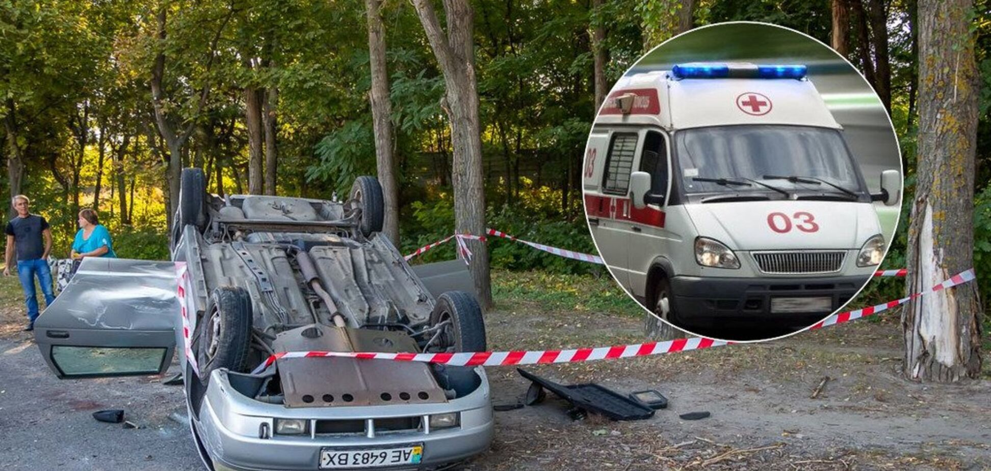 У Дніпрі вантажівка знесла з дороги легковик: є постраждалі