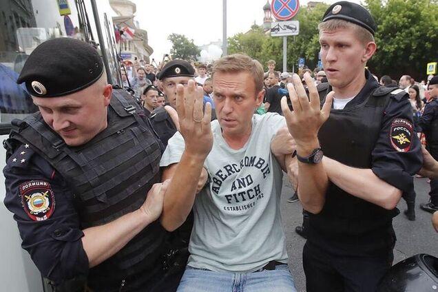Олексій Навальний під час затримання