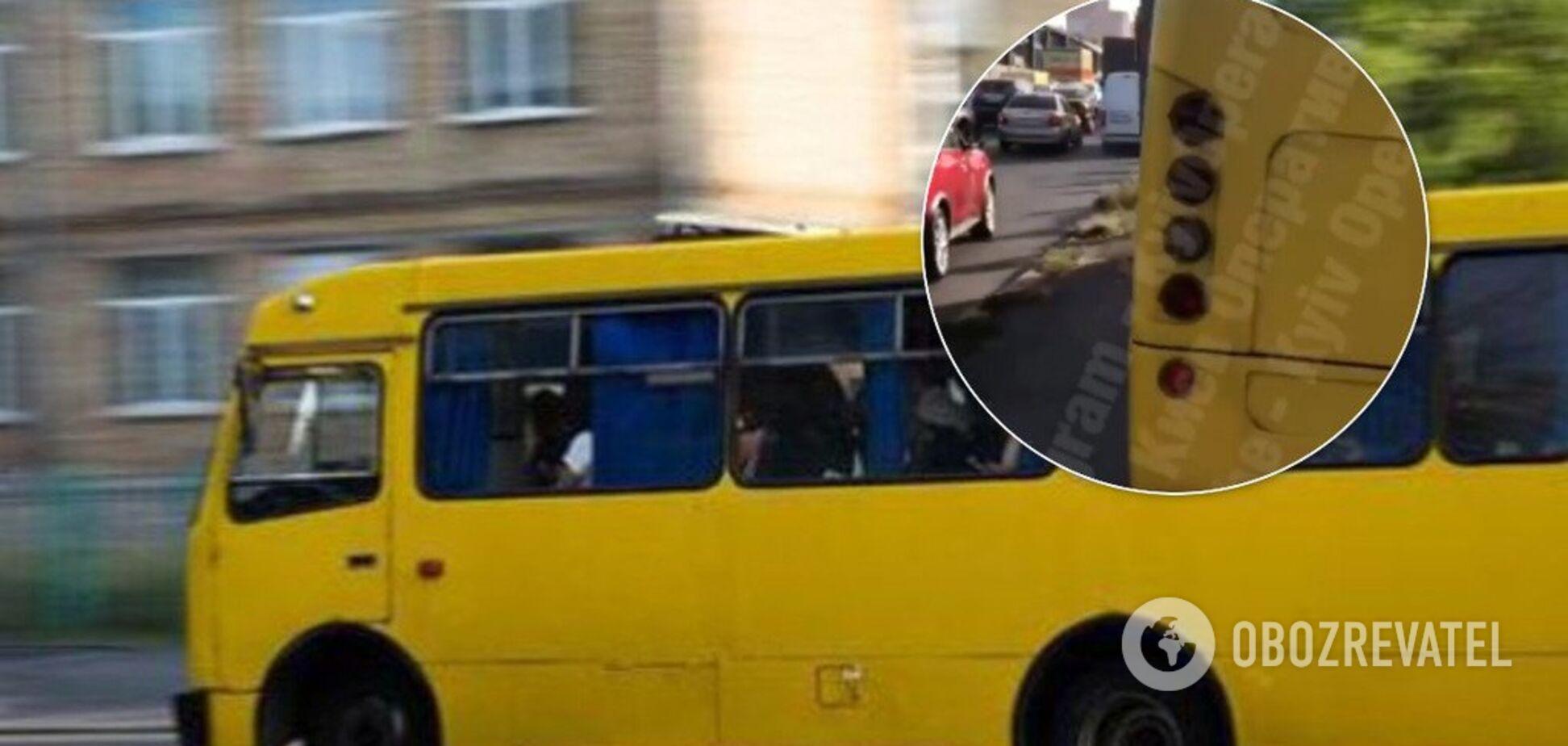 У Києві водій маршрутки втрапив у скандал