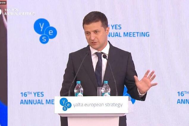 Владимир Зеленский на форуме YES в Киеве
