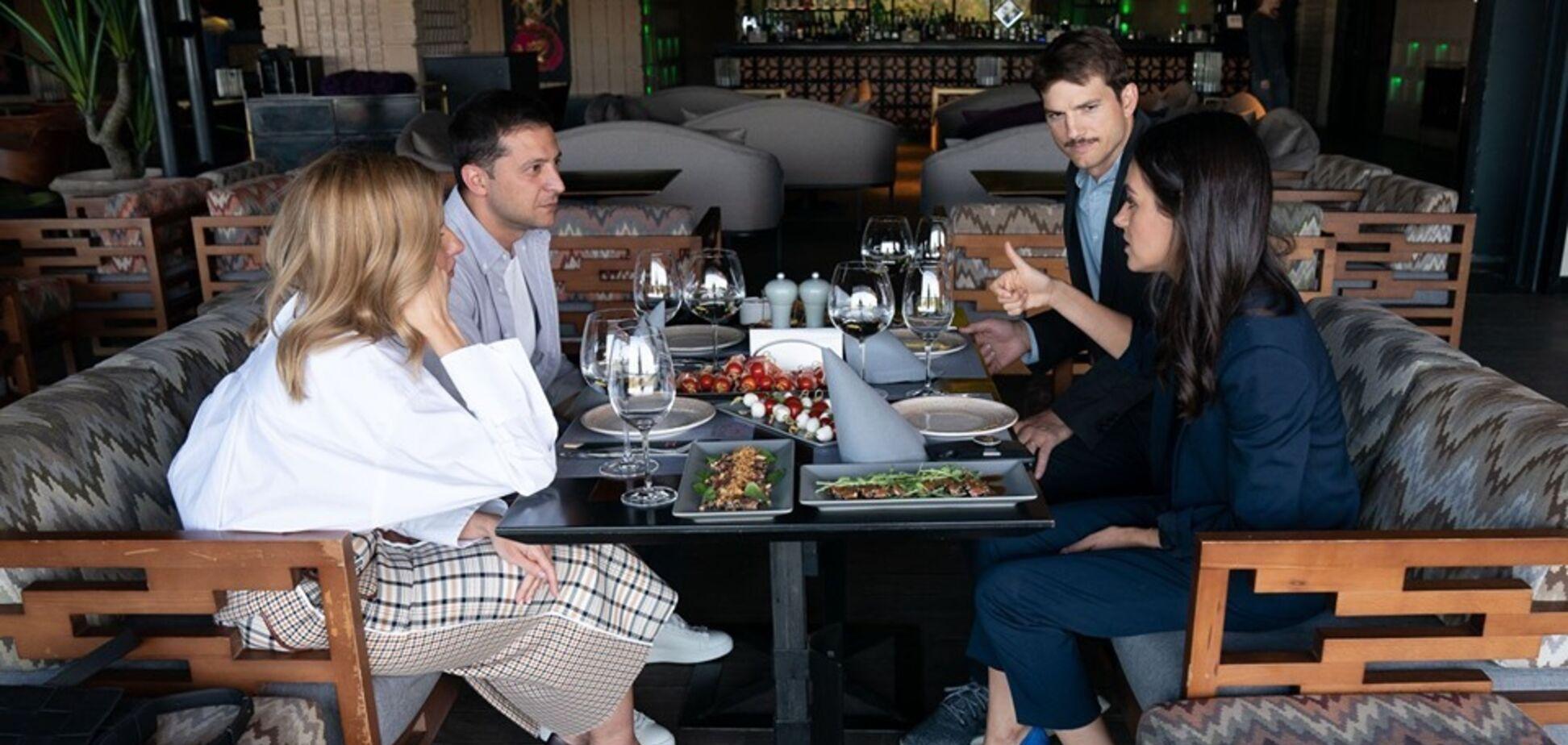 Володимир і Олена Зеленська на зустрічі з Мілою Куніс і Ештоном Катчером