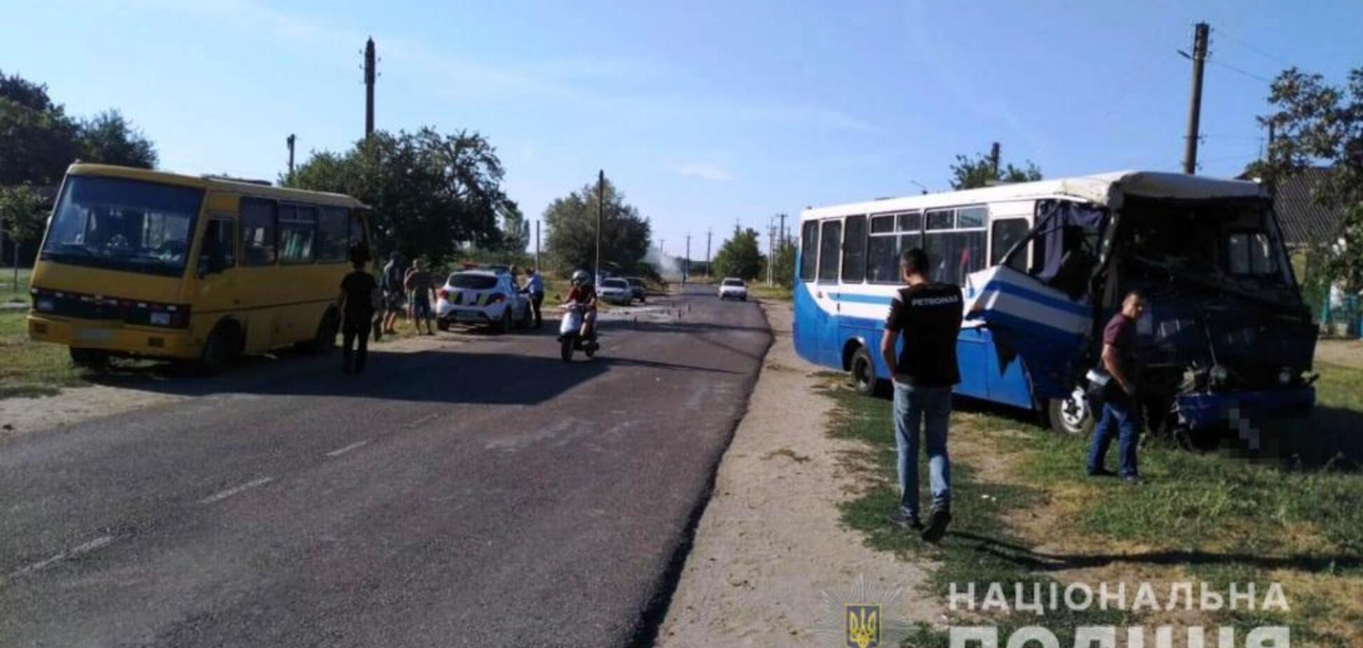 На Одещині зіткнулись дві маршрутки