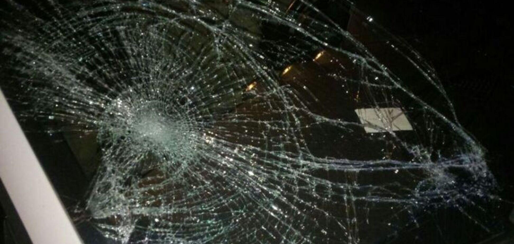 У Харкові мажорка збила людей на тротуарі: перше відео