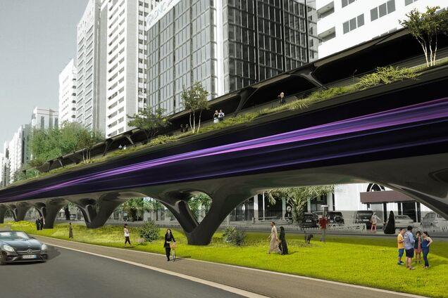 Концепт интеграции Hyperloop в окружающую среду