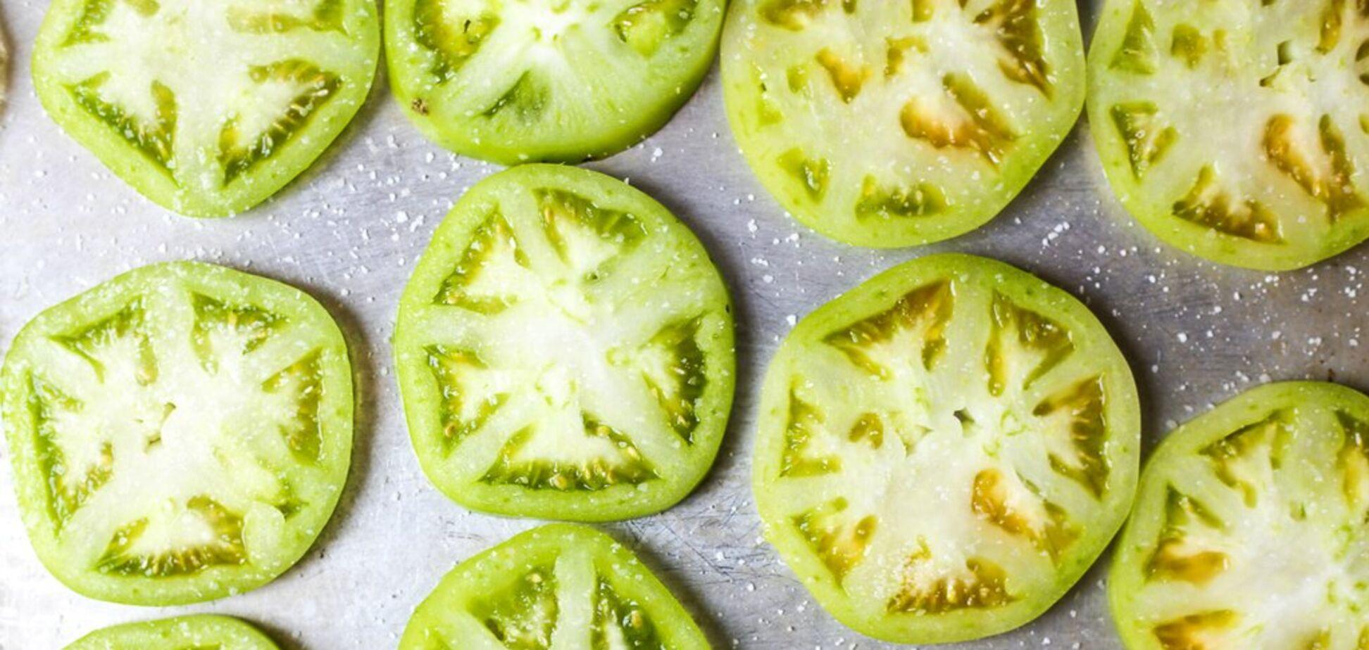 Рецепт очень вкусного салата из зеленых помидоров