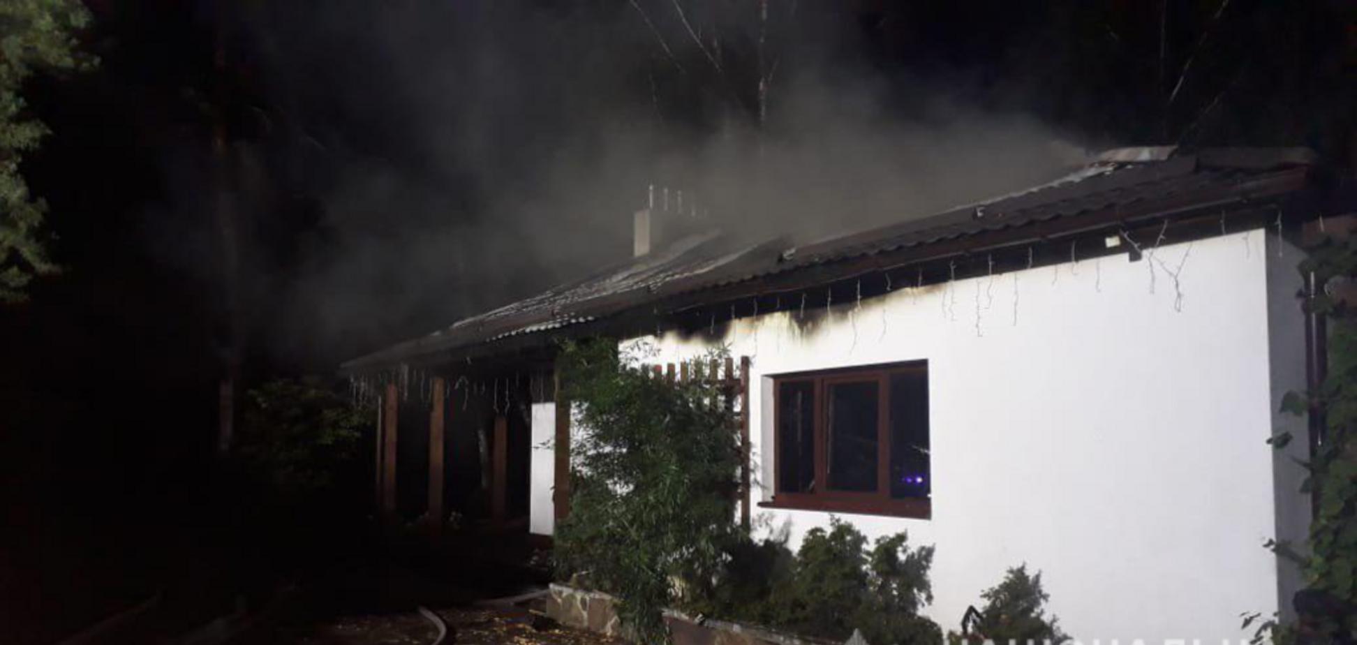 Будинок Гонтаревої згорів: у поліції озвучили версії
