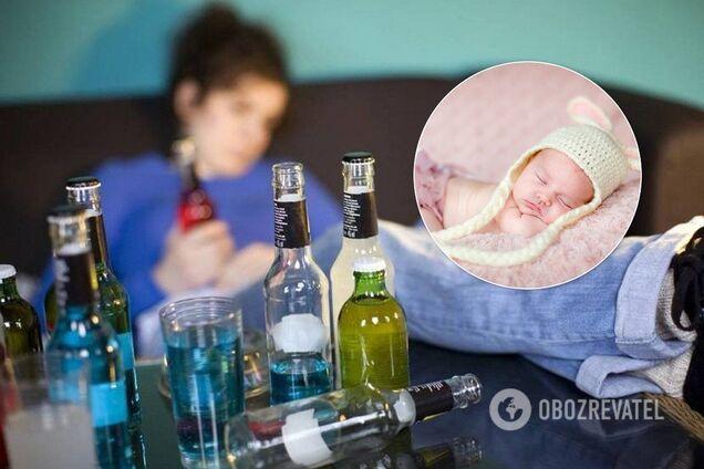 Ребенок и пьяная мать