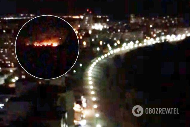 Кияни зняли пожежу в парку Дружби народів