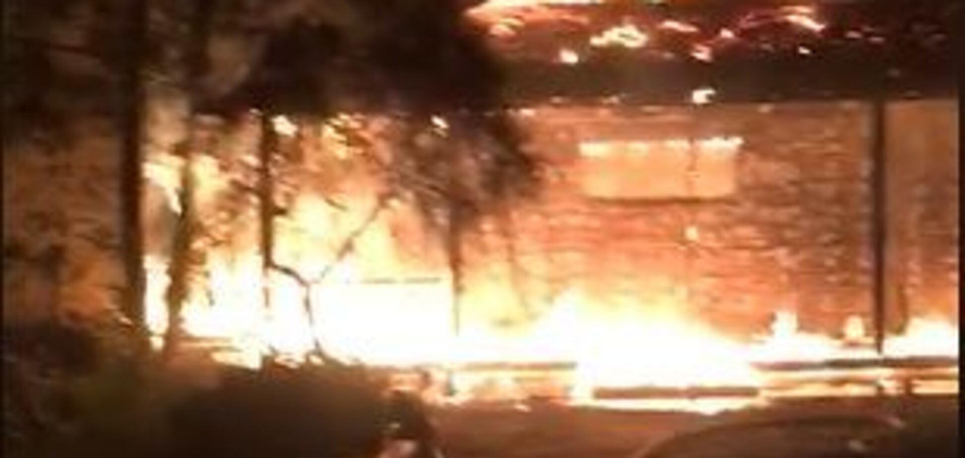 Гонтаревій спалили будинок: з'явилося відео з місця НП