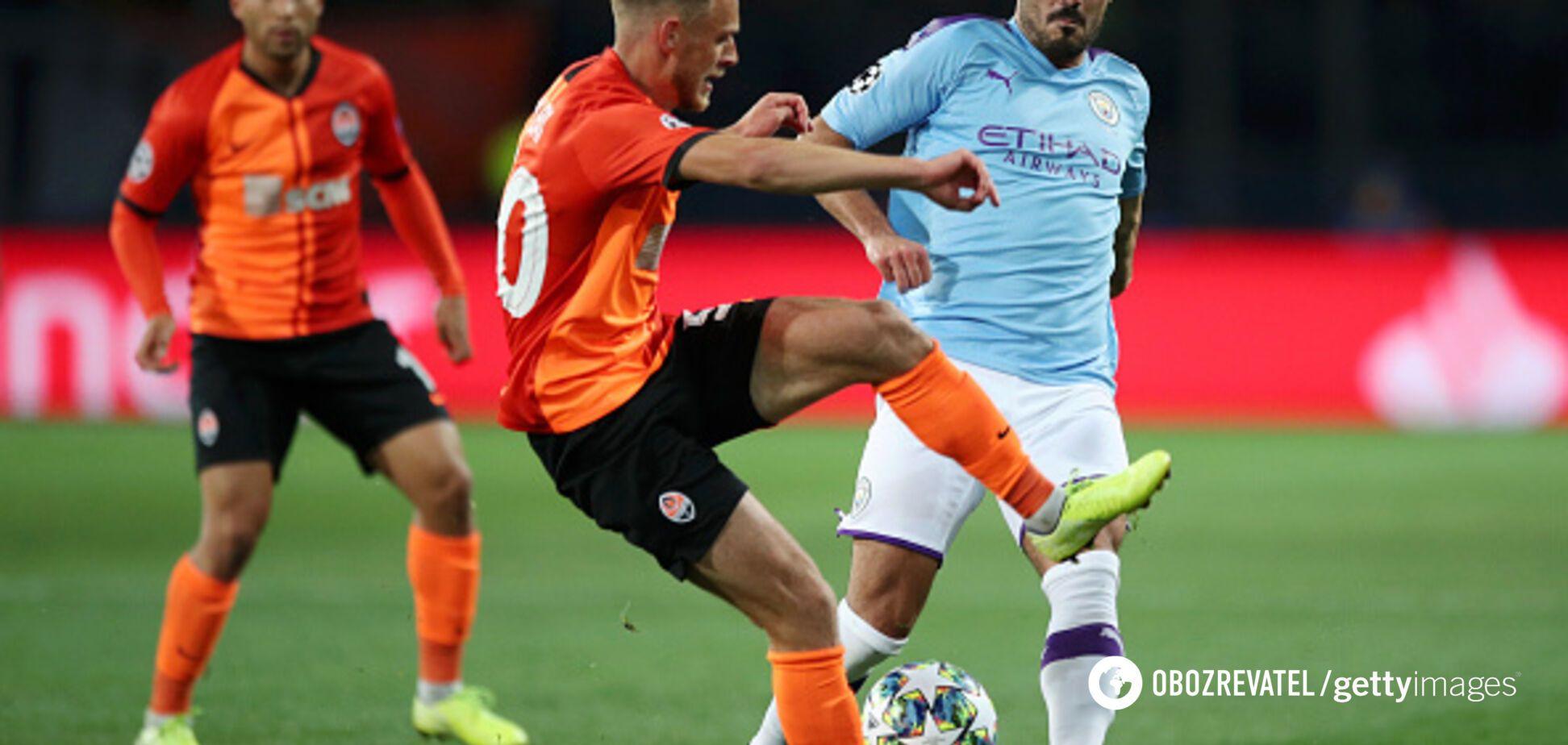 'Шахтер' разгромно проиграл 'Манчестер Сити' на старте Лиги чемпионов