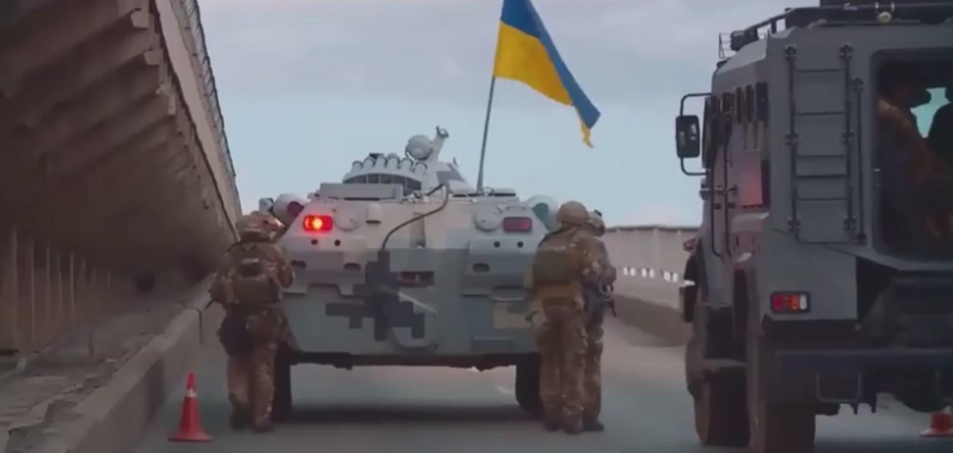 'Захоплення' Метро: з'явилося повне відео спецоперації на мосту в Києві