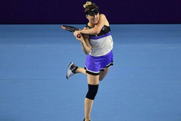 Элина Свитолина с февраля играет, невзирая на травму колена