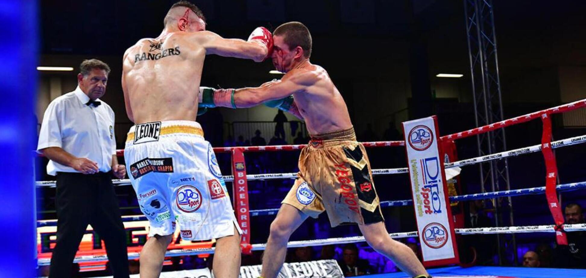 Известный украинский боксер проиграл кровавый бой за чемпионский титул
