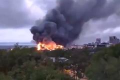 В России загорелся очередной ТЦ
