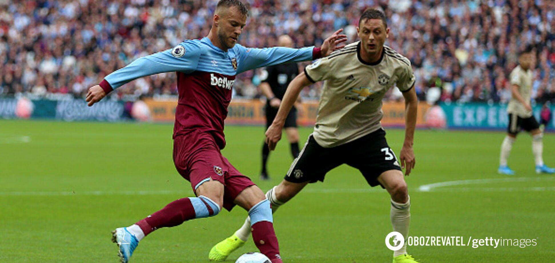 Ярмоленко забил эффектный гол 'Манчестер Юнайтед'