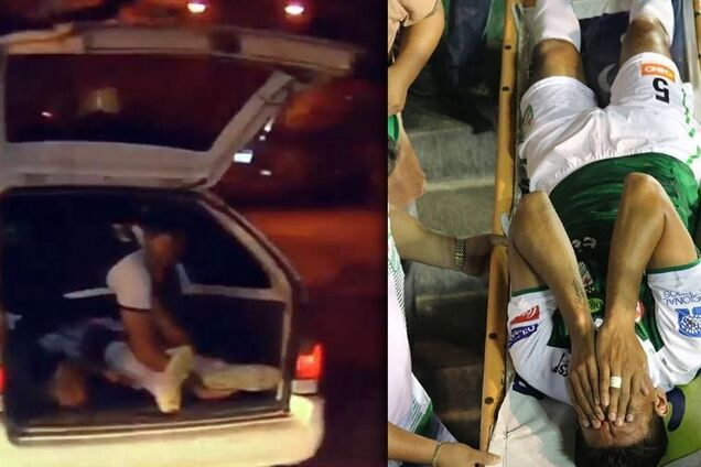 Футболиста с травмой увезли со стадиона в багажнике такси