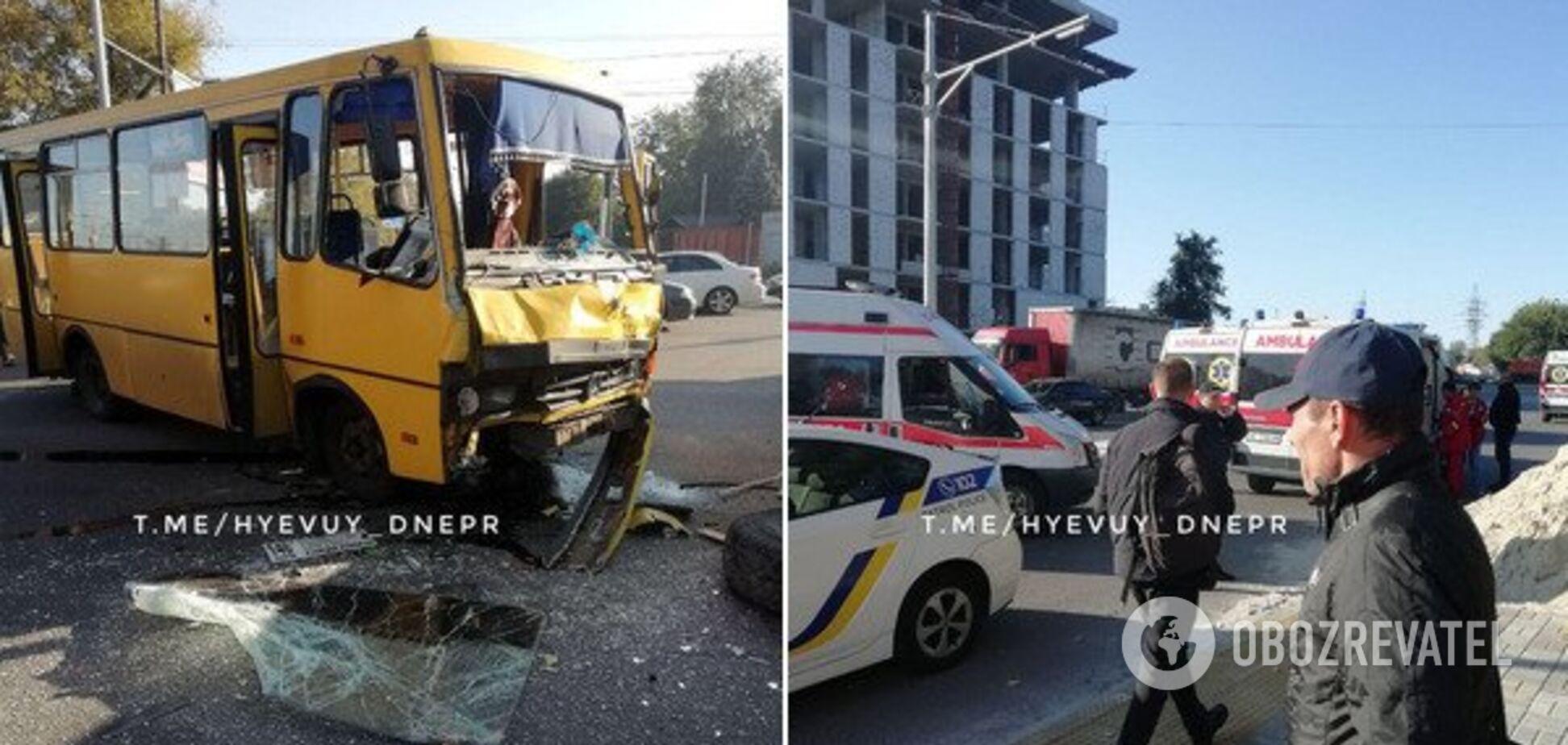 Приїхало п'ять швидких: у Дніпрі трапилася страшна ДТП із автобусом