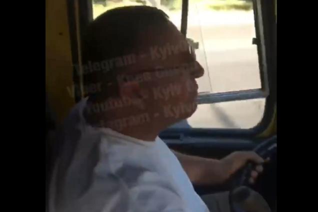 В Киеве маршрутчик напугал пассажиров экстрим-поездкой