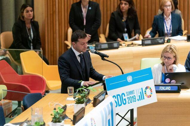 Владимир Зеленский на Генассамблее ООН
