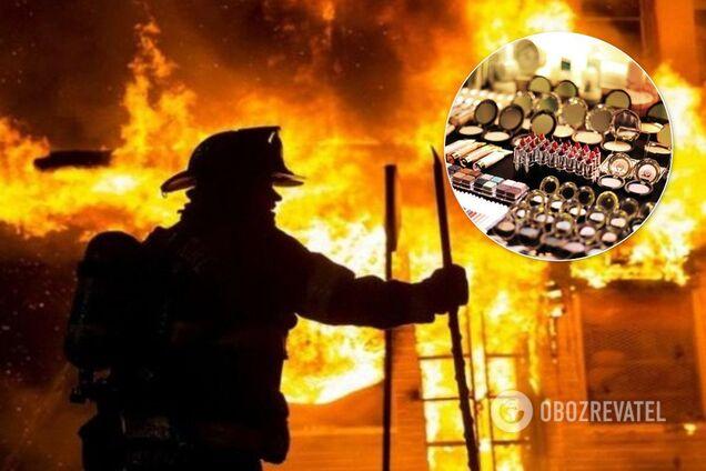 В Києві підпалили магазин із косметикою