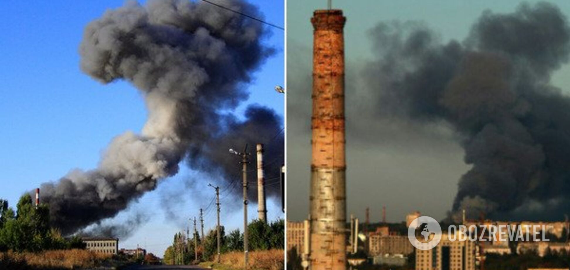 Пожар на складе боеприпасов: в Донецке эвакуация