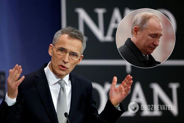 Генсек НАТО Йенс Столтенберг і лідер РФ Володимир Путін