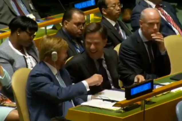 Король Нидерландов рассмешил премьера в ООН