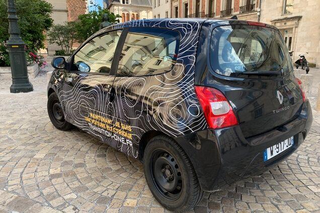 Бензиновий Renault Twingo, перероблений в електромобіль