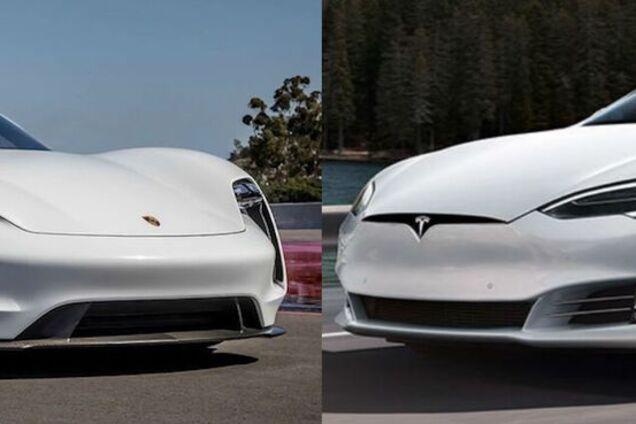 Tesla Model S проти Porsche Taycan