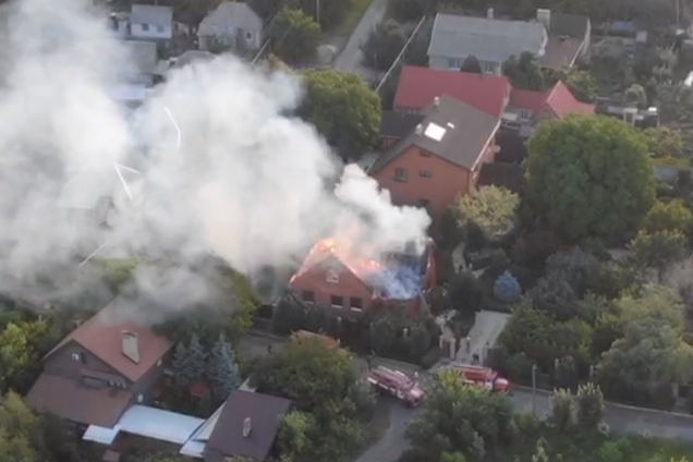 """У """"ДНР"""" спалили будинок ватажка терористів Дикого"""