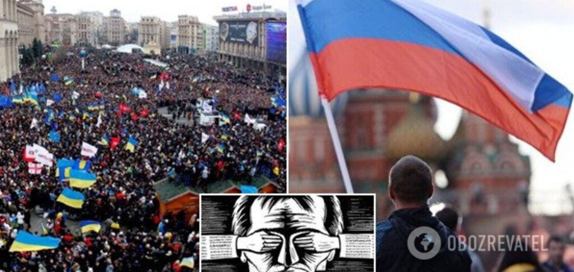 Украинцы научились восставать против г*вна, а россияне терпят