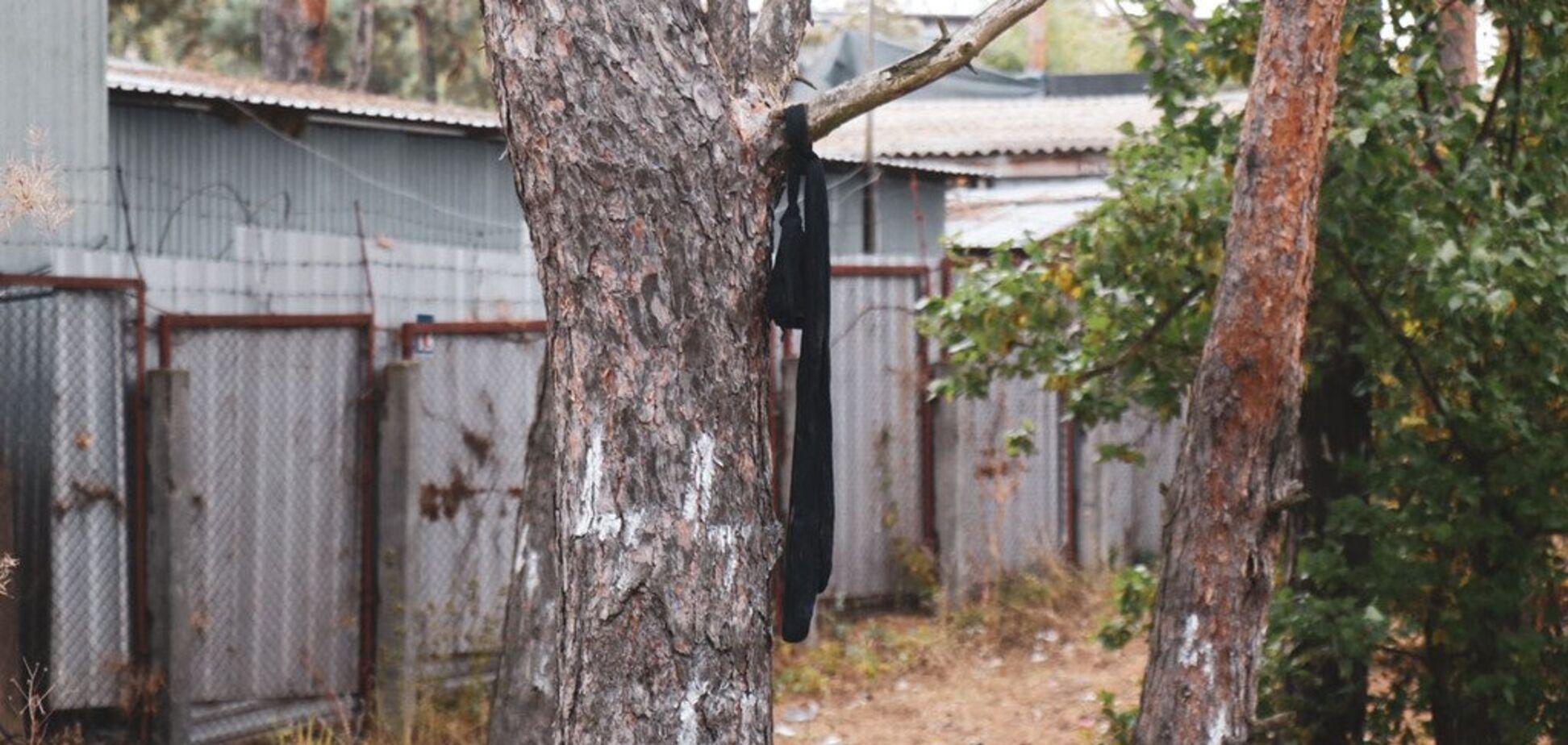 ВКиеве нашли висящий на дереве труп