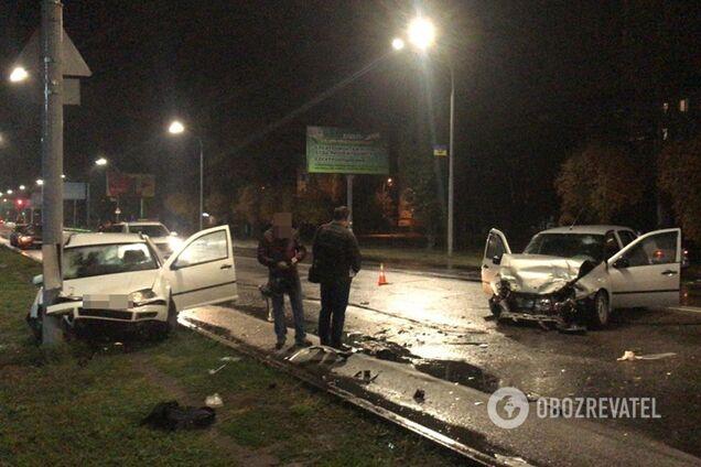 Под Днепром пьяный полицейский устроил ДТП