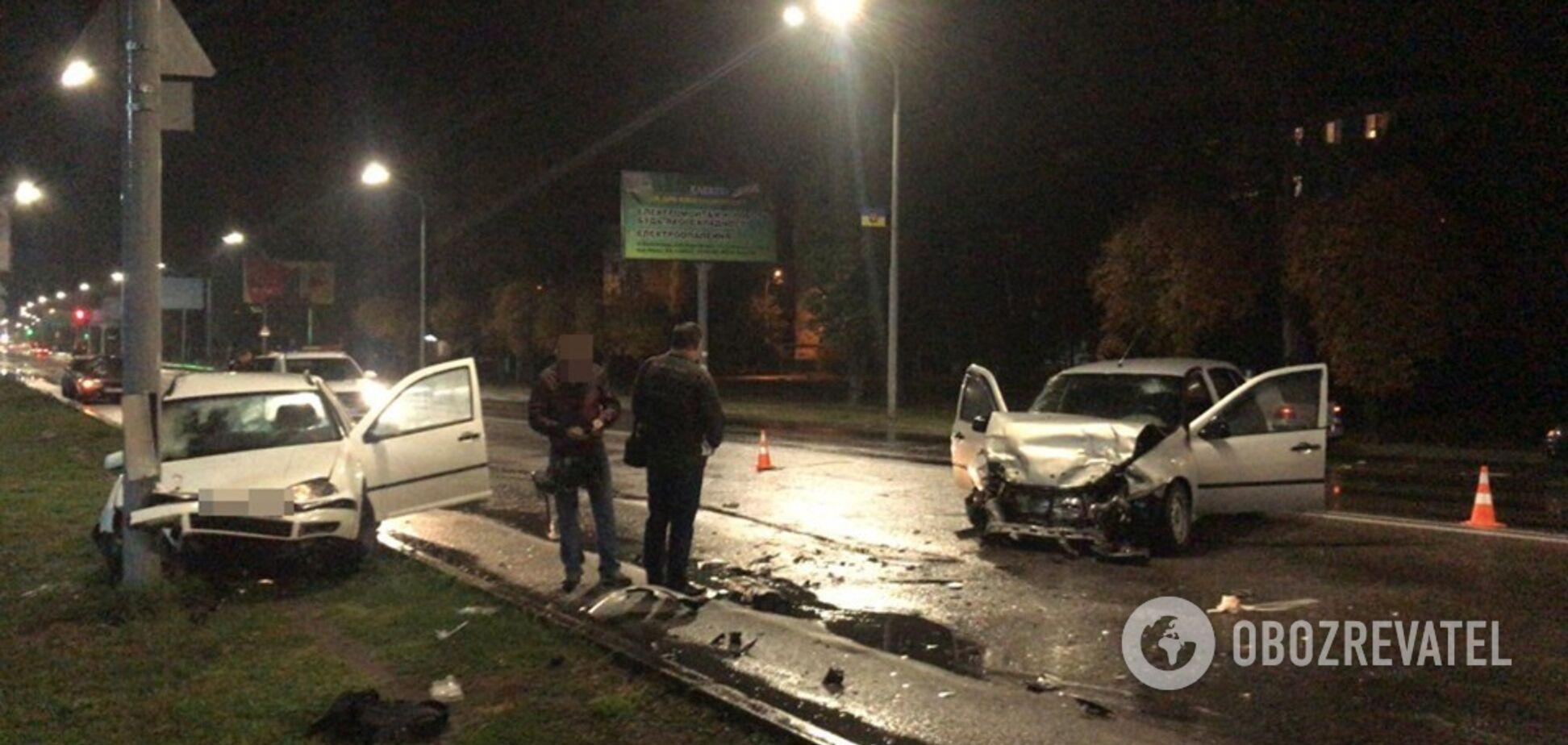 Під Дніпром п'яний поліцейський влаштував ДТП