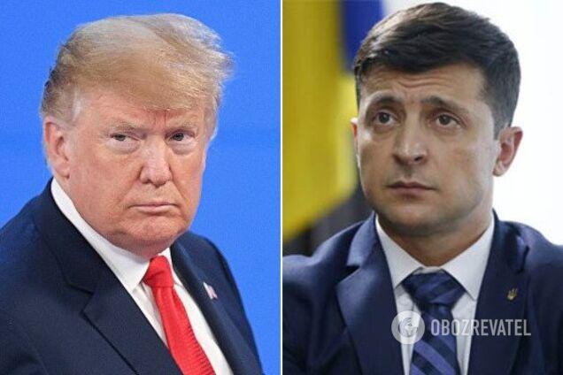 Президенты США и Украины Дональд Трамп и Владимир Зеленский