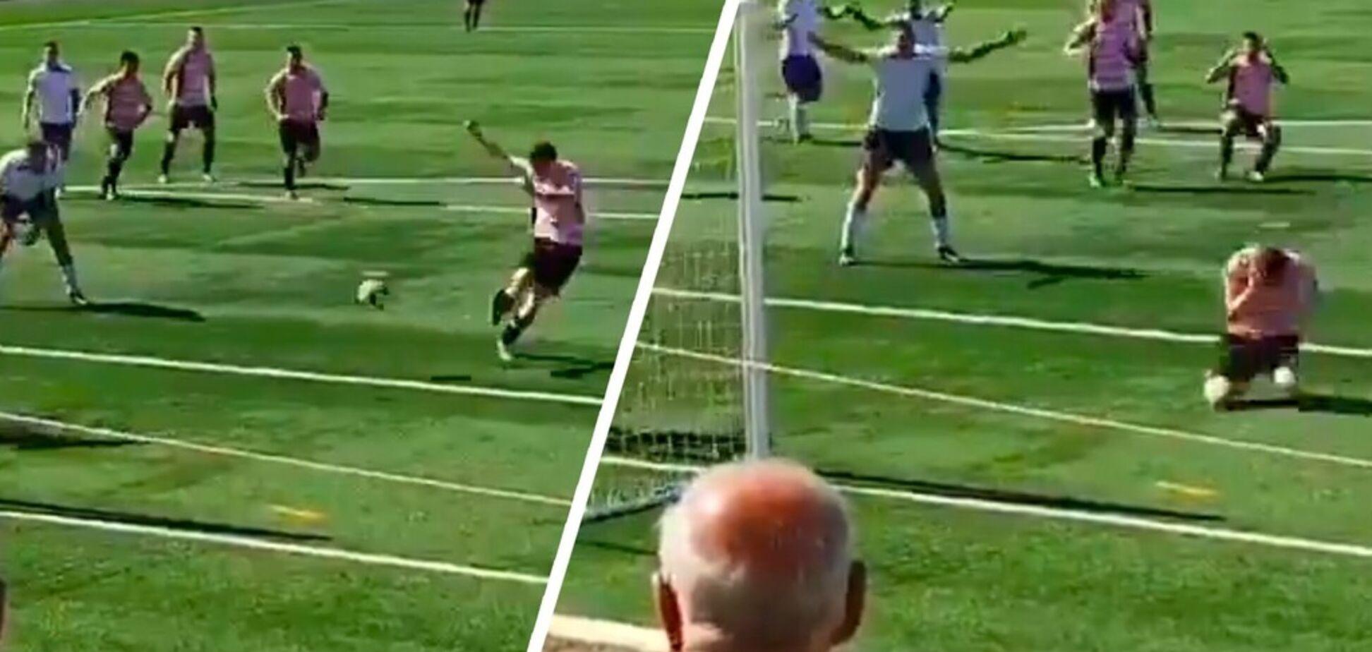 Австралийский футболист забил самый отчаянный автогол лета