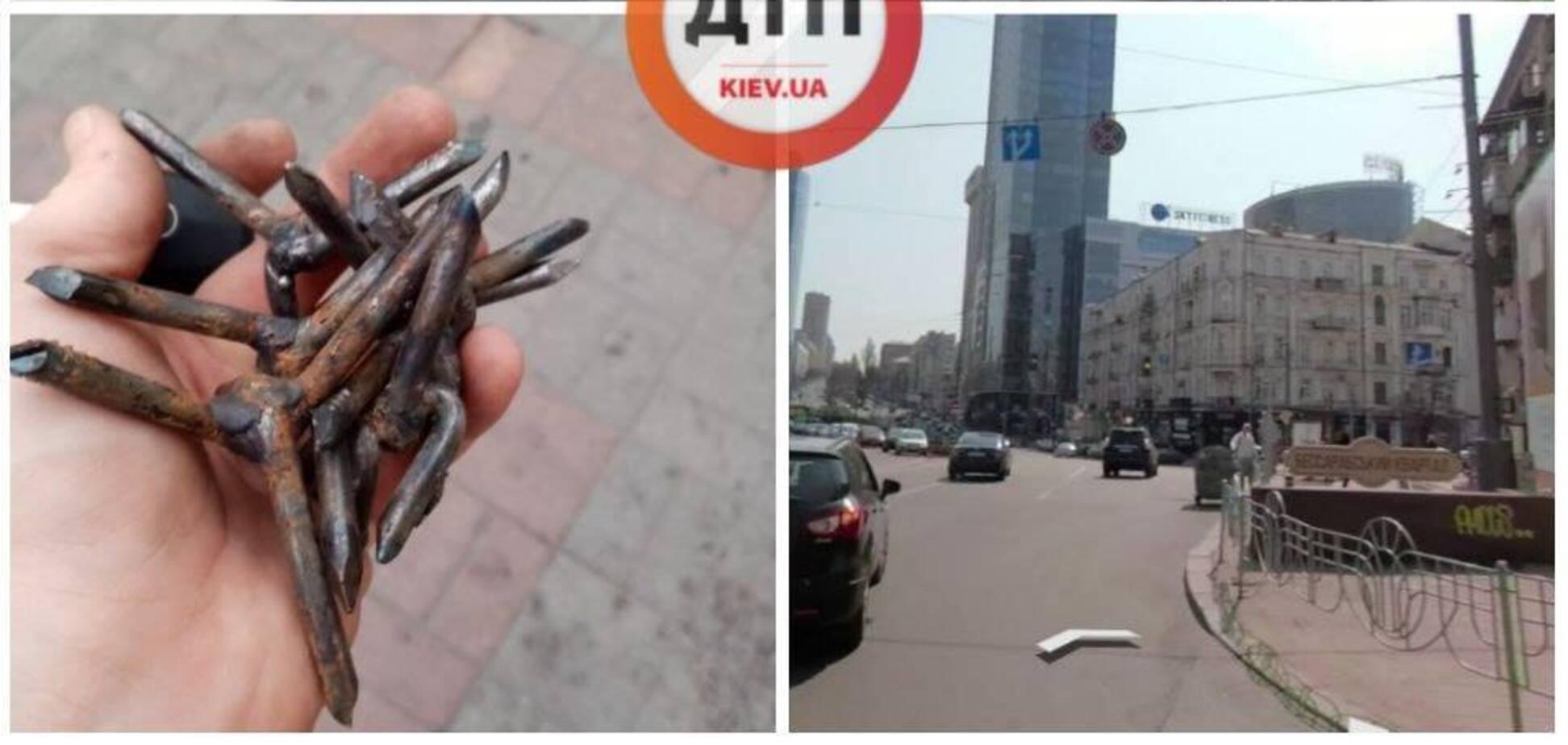 У Києві авто потрапило у незвичайну НП
