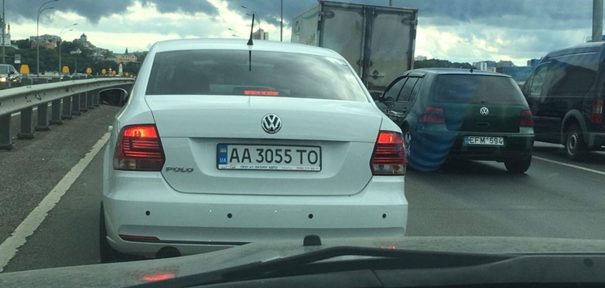 УКиєві на відео потрапив моторошний 'гонщик'