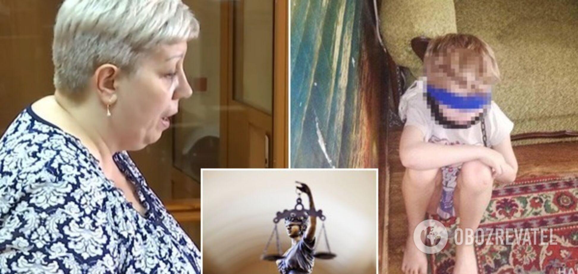 Садила на ланцюг і зав'язувала рот: суд у Дніпрі вирішив долю жорстокої матері