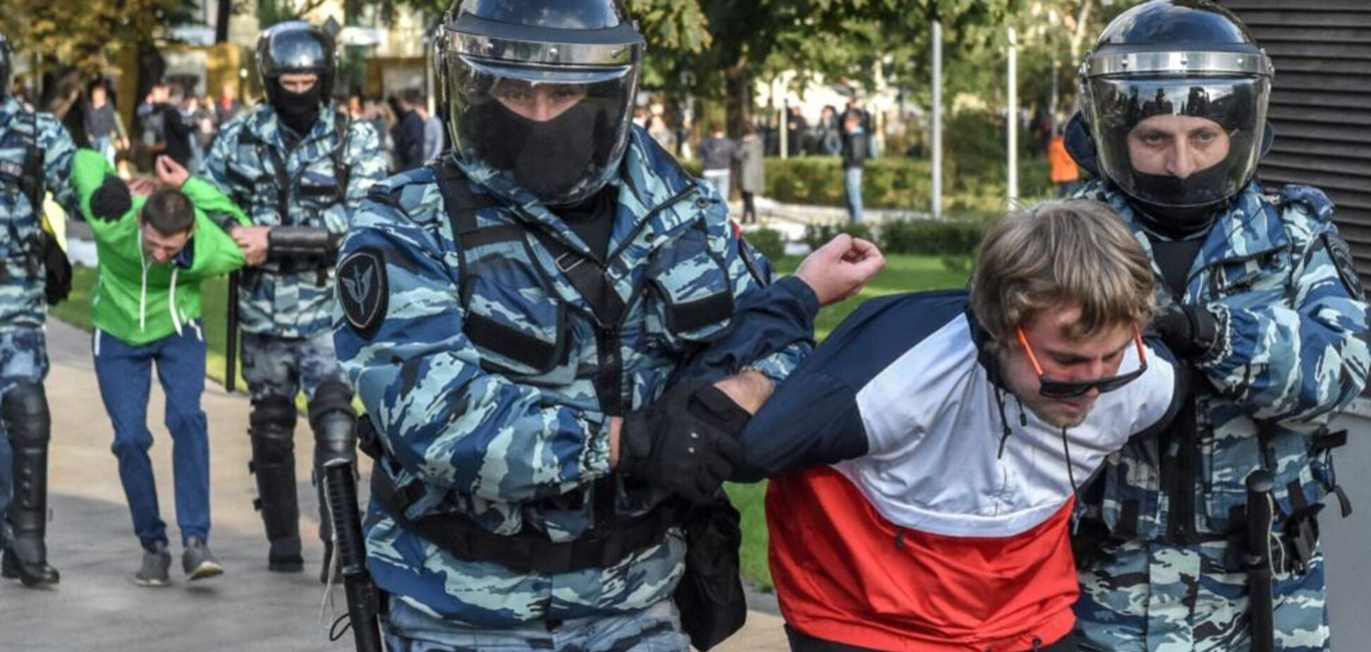 Российские каратели бесчинствуют в Москве